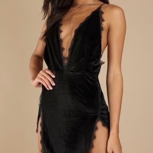 TOBI velvet dress